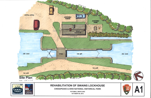 Site Plan Highlights: *Private accessible parking *Easy graded path to home entry *Accessible picnic table and fire ring with view downstream