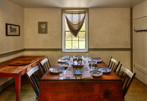 The dining room in Lockhouse 25.