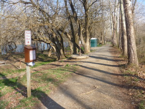 Antietam Creek Drive In Campground bathroom and handpump by Jim Tomlin PATC