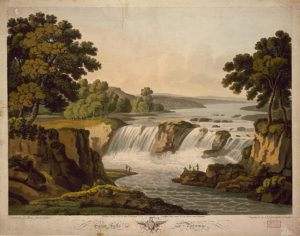 George Washington was so fond of Great Falls that he purchased this painting of the falls from George Beck. It still is at Mount Vernon today.