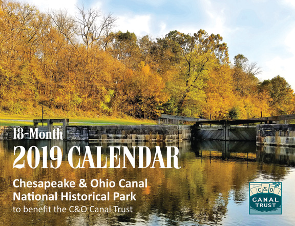 2019 Annual Calendar Featuring the C&O Canal Now Available