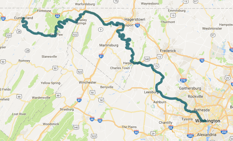 C&O Canal Map C&O Canal Towpath – C&O Canal Trust