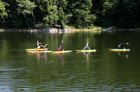 Group Yoga at WIdewater by Mark Woodhead